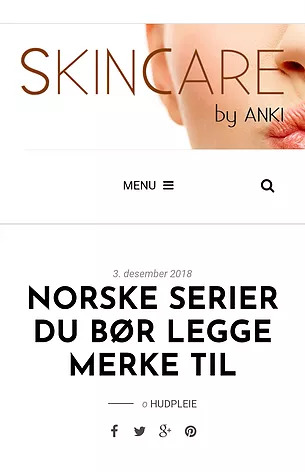 Review by Skincare by Anki posted on www.skincarebyanki.no 3th dec. 2018
